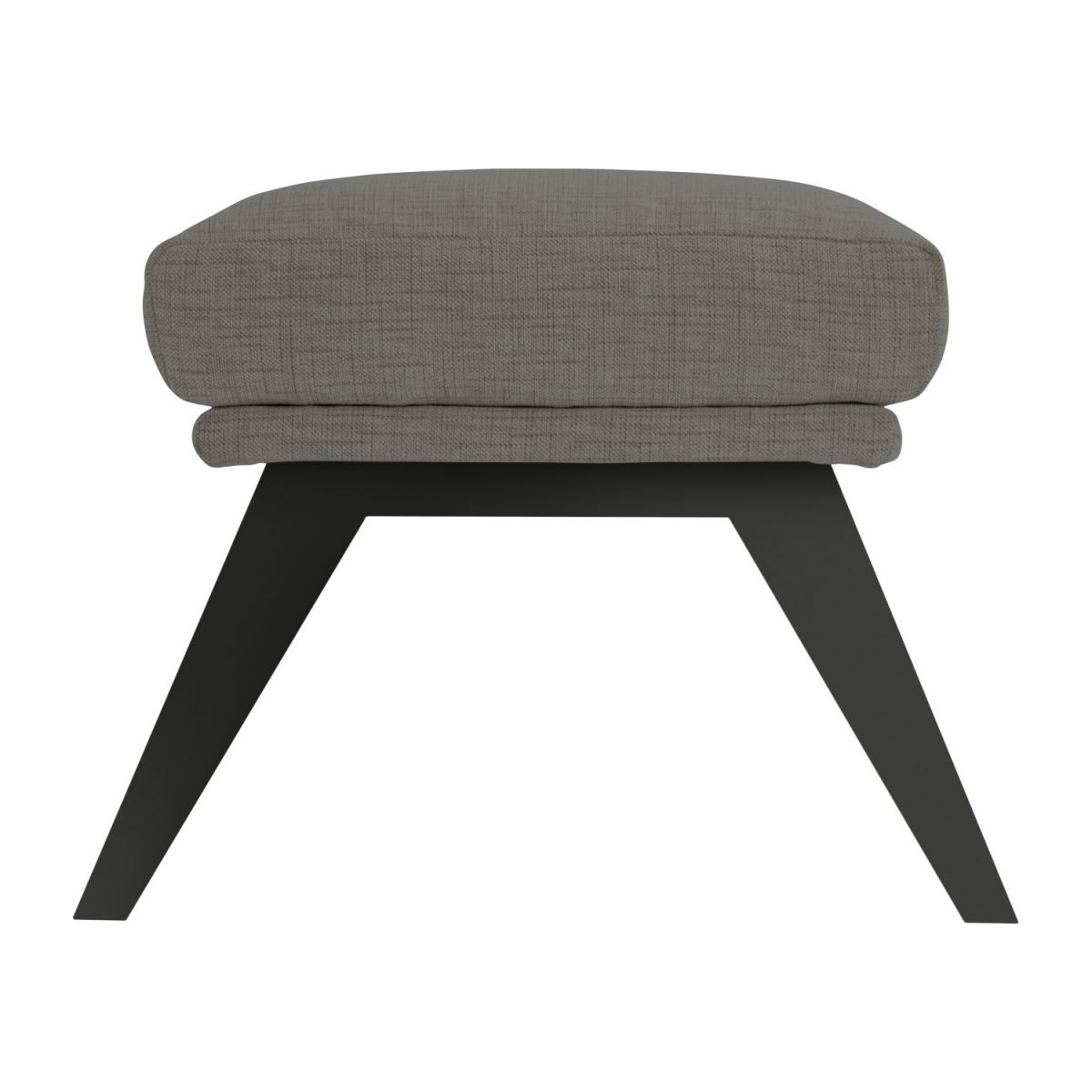 Footstool in Ancio fabric, river rock with dark legs n°4