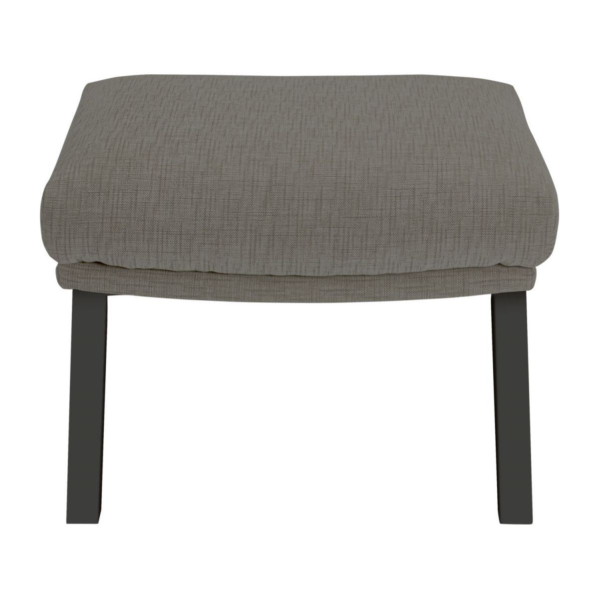 Footstool in Ancio fabric, river rock with dark legs n°2