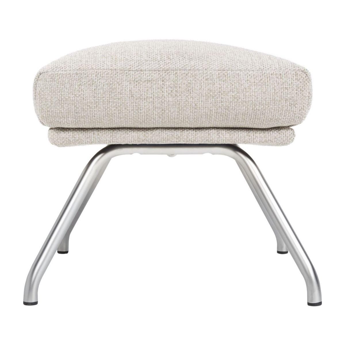 Footstool in Lecce fabric, nature with matt metal legs n°3