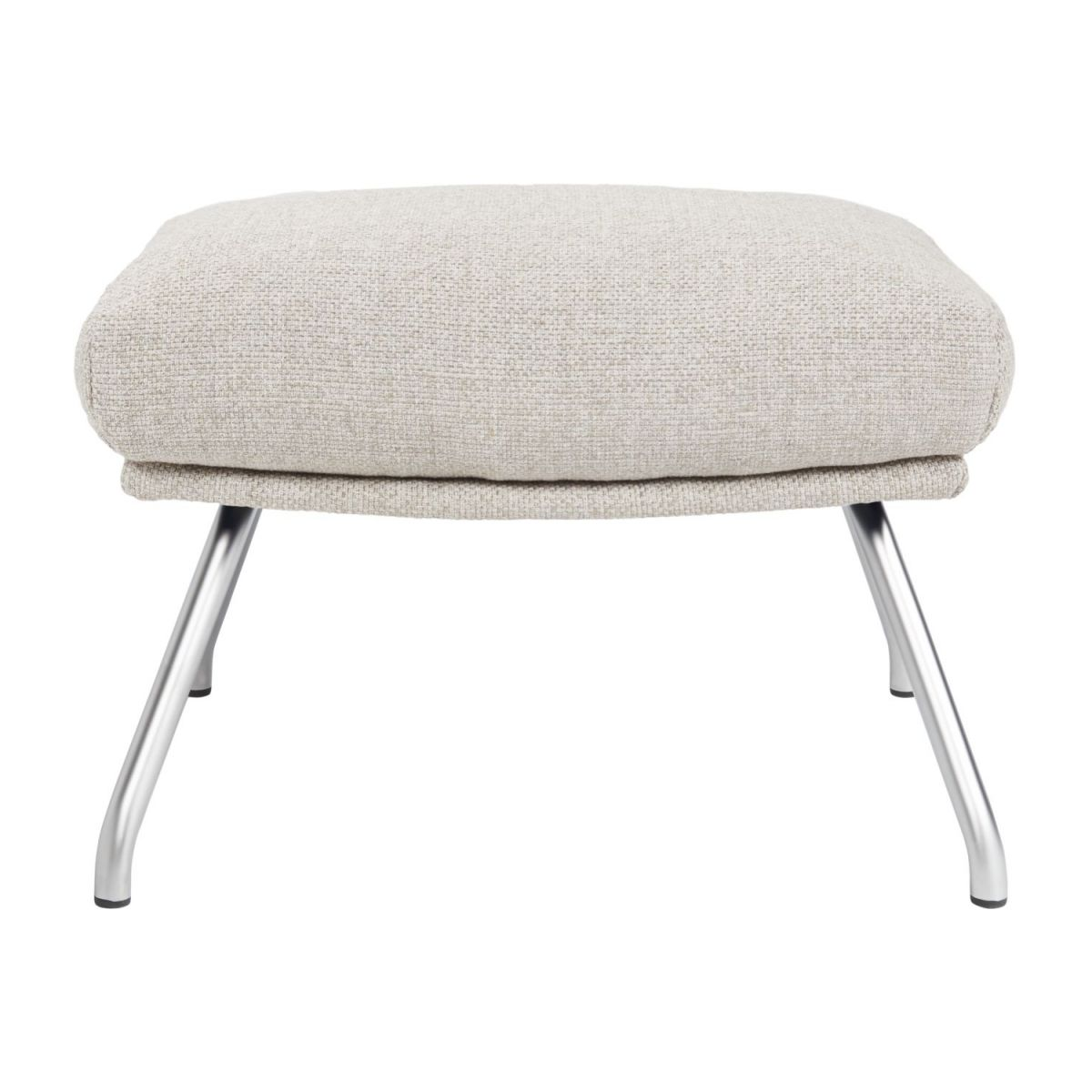 Footstool in Lecce fabric, nature with matt metal legs n°2