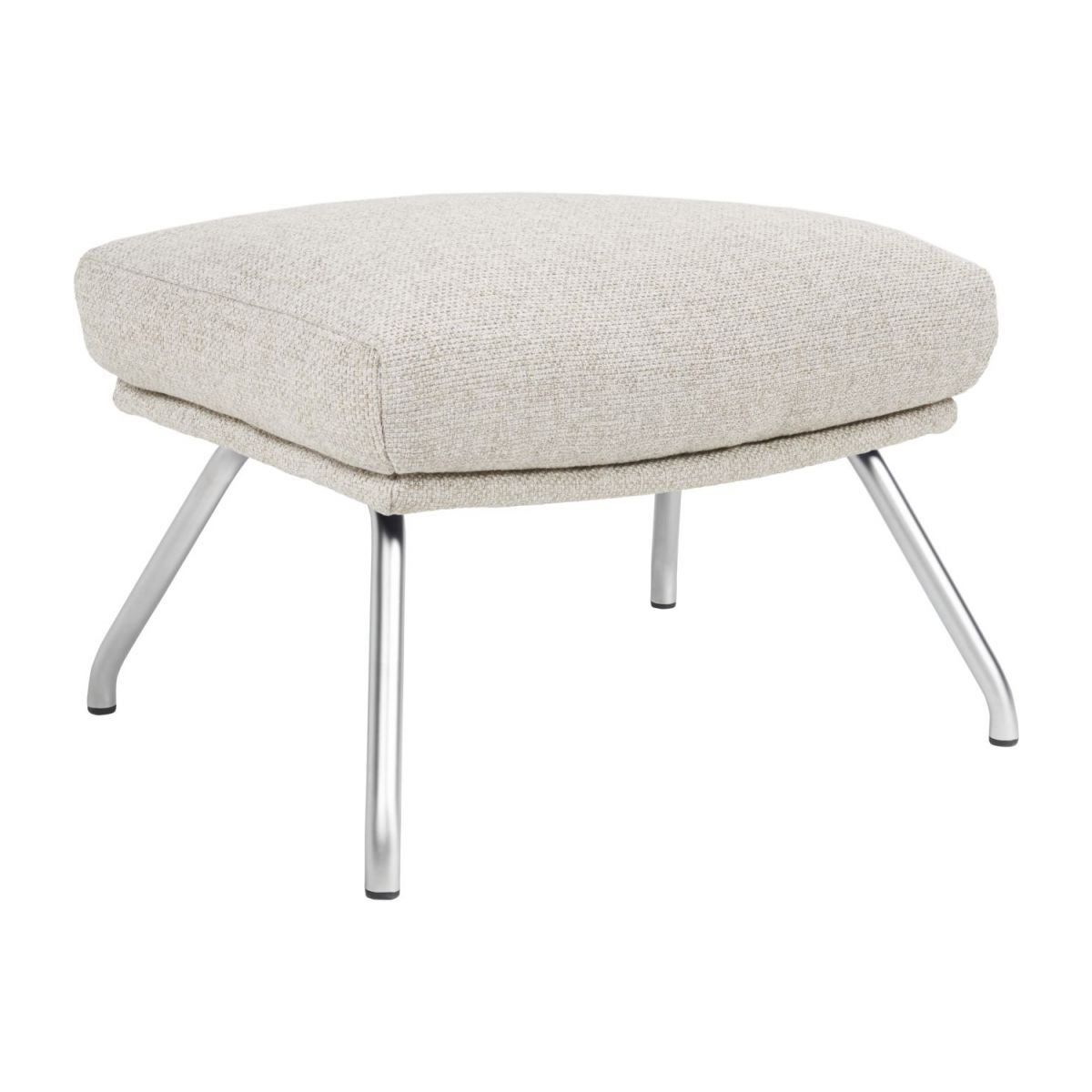Footstool in Lecce fabric, nature with matt metal legs n°1