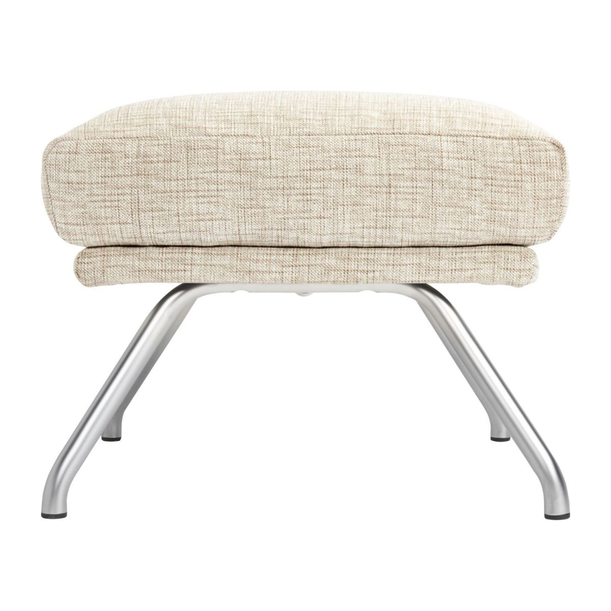 Footstool in Ancio fabric, nature with matt metal legs n°3