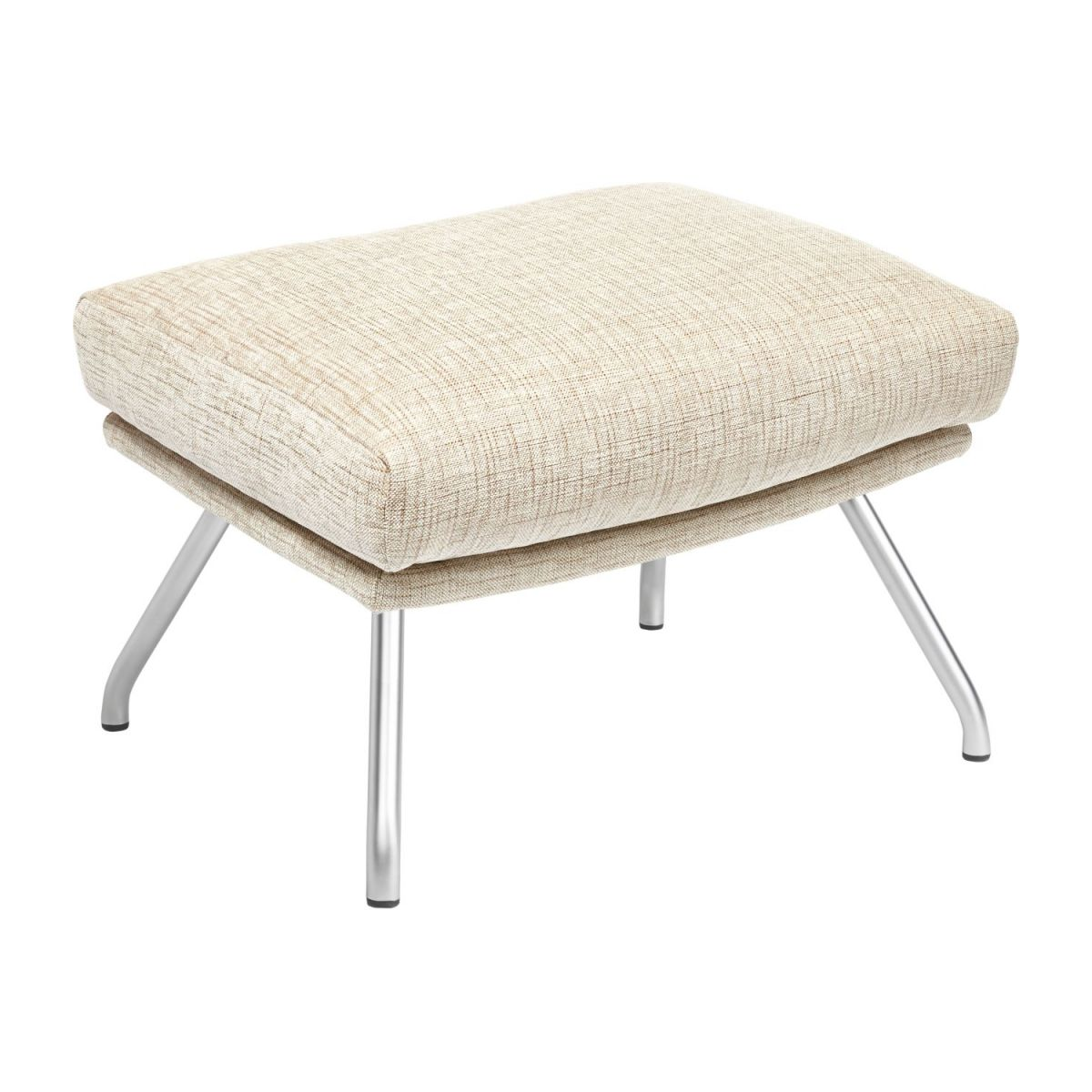 Footstool in Ancio fabric, nature with matt metal legs n°1