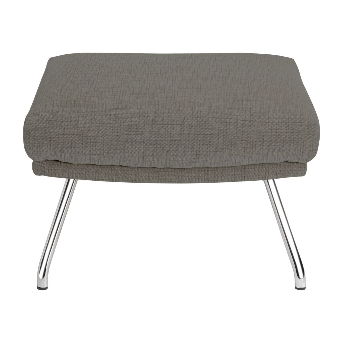Footstool in Ancio fabric, river rock with chromed metal legs n°2