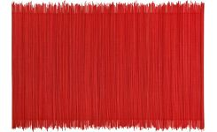 Red bamboo table mat 30x45cm