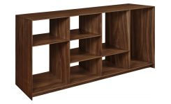 Low walnut tree shelf