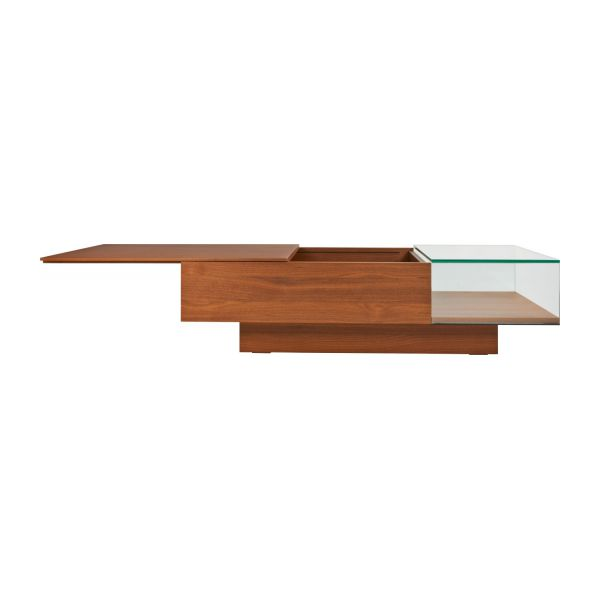 Coffee table in walnut tree n°4