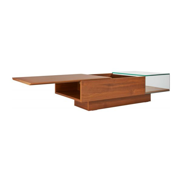 Coffee table in walnut tree n°3