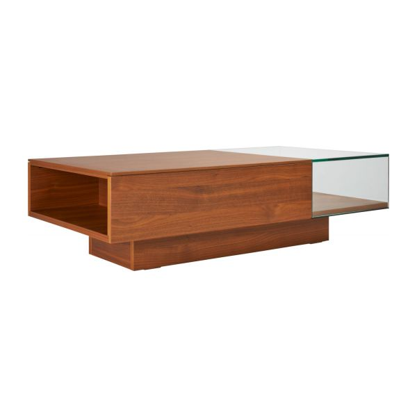 Akira coffee table in walnut tree habitat for Habitat table basse