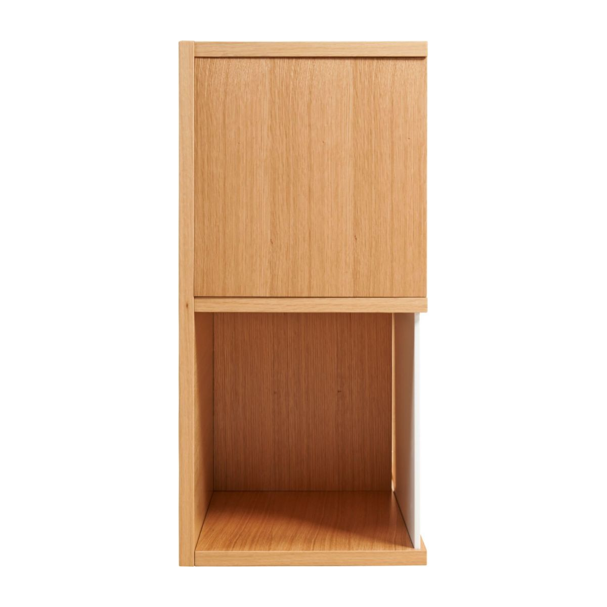 Low bookcase, oak and white n°5