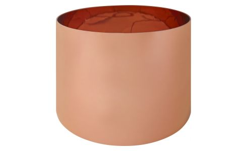 Lampshade 35x33x24 cm in PVC, copper