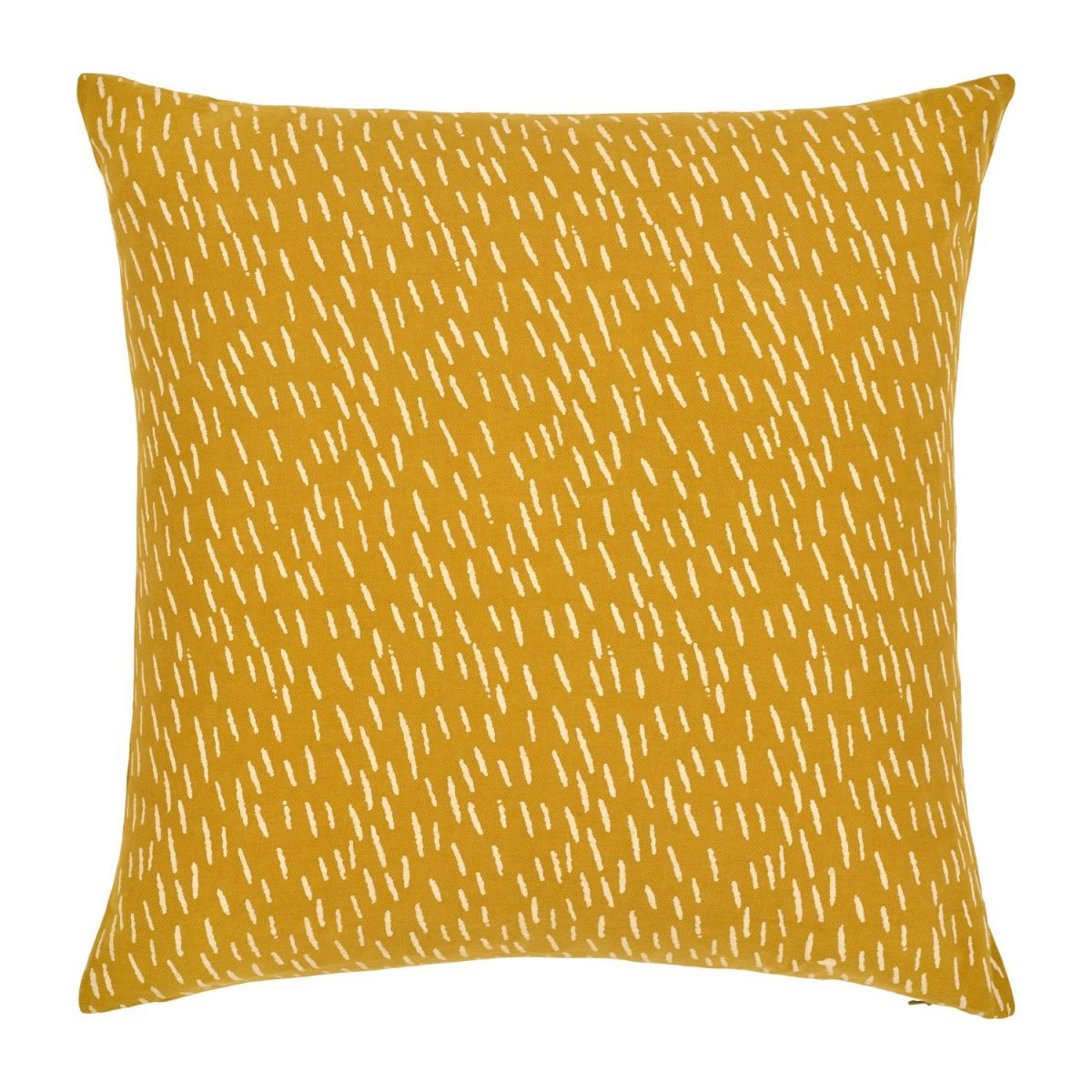 Cushion made of cotton 45x45, yellow with patterns n°1