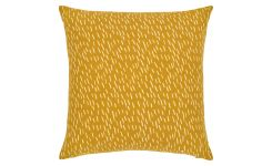 Cushion made of cotton 45x45, yellow with patterns