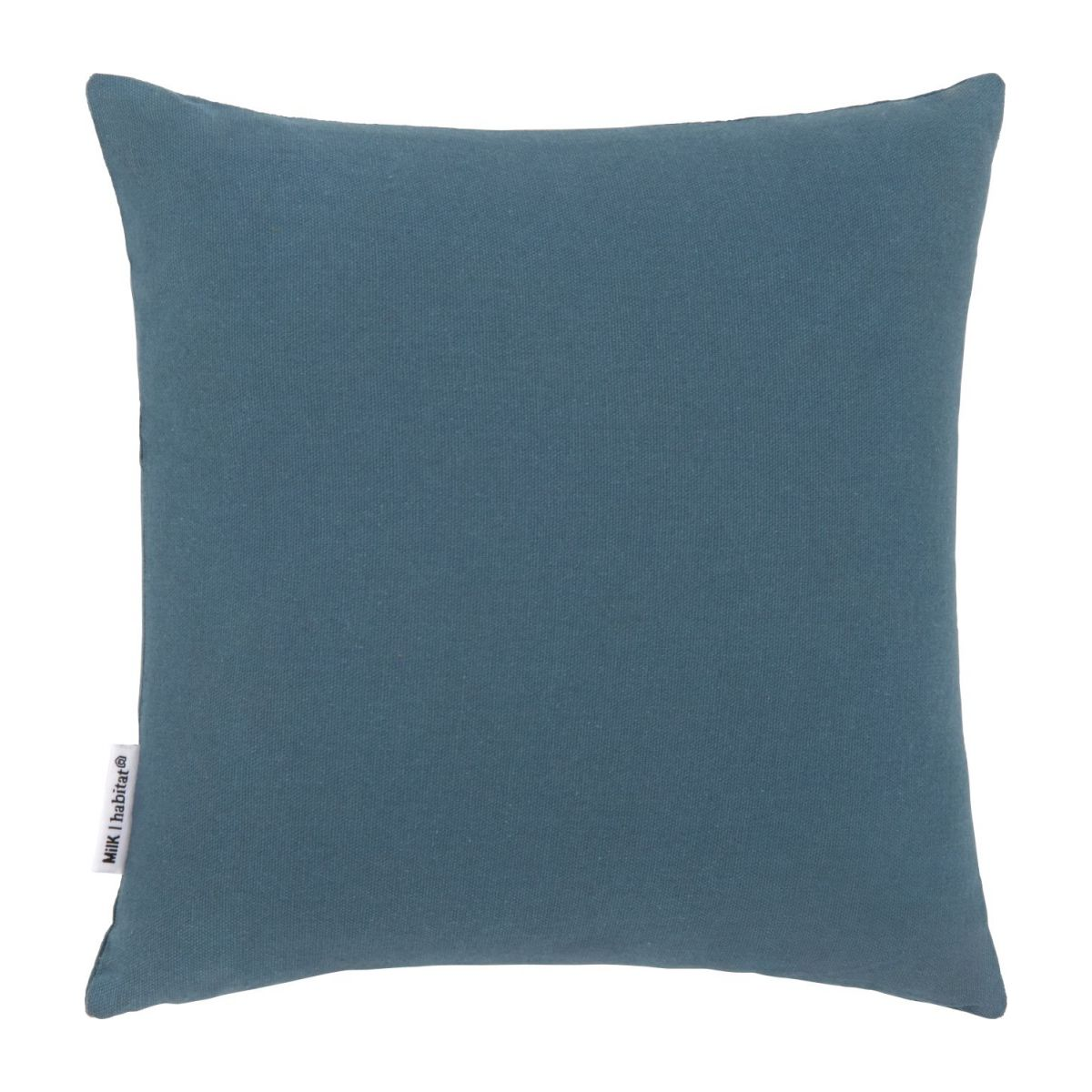 Cushion made of cotton 30x30, blue with radish pattern n°3