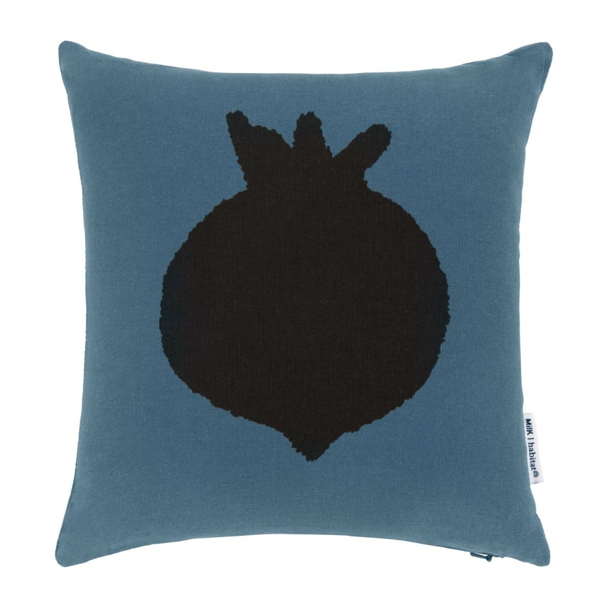 Cushion made of cotton 30x30, blue with radish pattern n°1