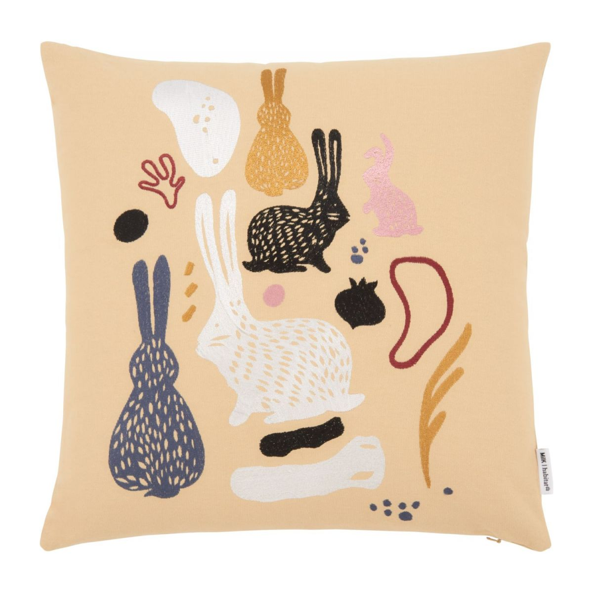 Cushion made of cotton 45x45 with embroidered patterns n°1