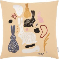 Cushion made of cotton 45x45 with embroidered patterns