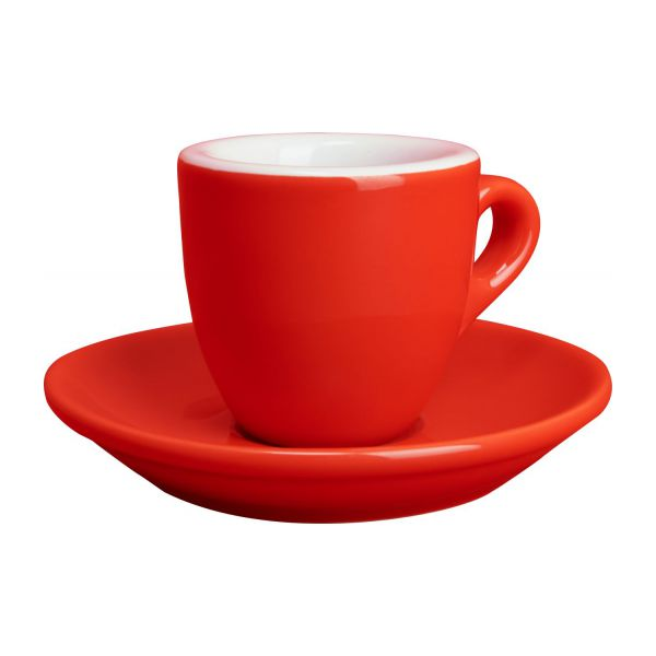 iseo tasse expresso en porcelaine rouge habitat. Black Bedroom Furniture Sets. Home Design Ideas