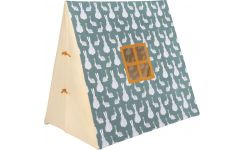 Tent made of cotton, bunny pattern