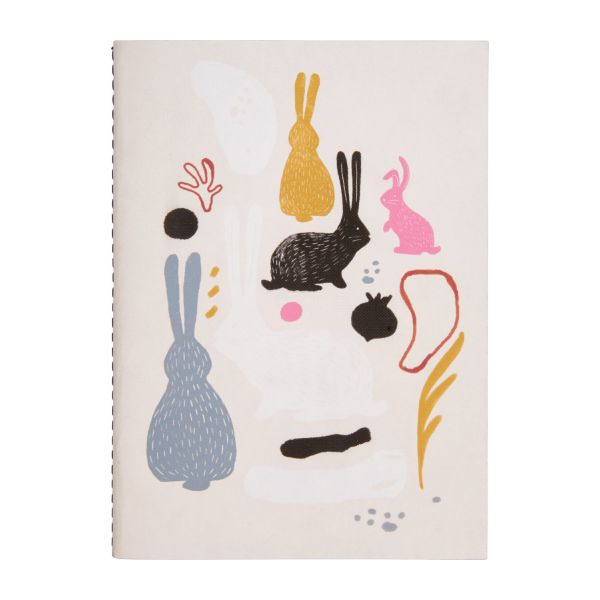 Notebook A6, bunny patterns n°2