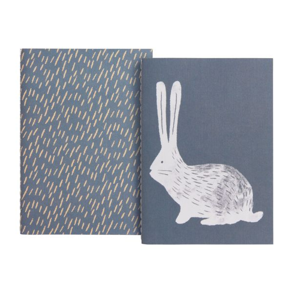 Notebook A5, beige with bunny patterns n°3