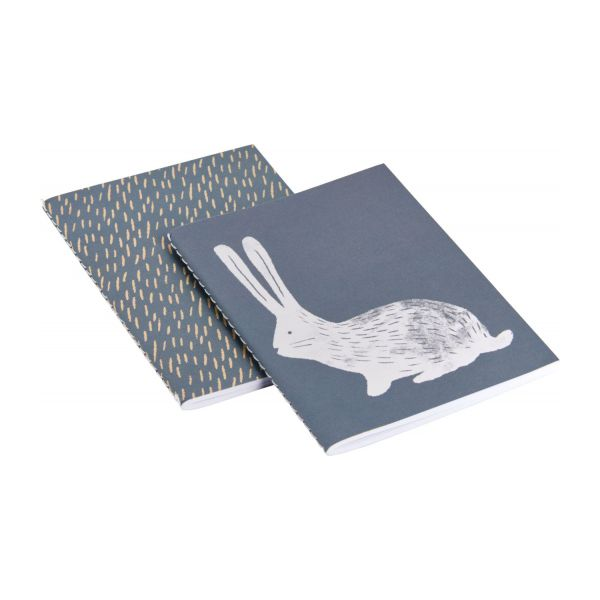 Notebook A5, beige with bunny patterns n°1