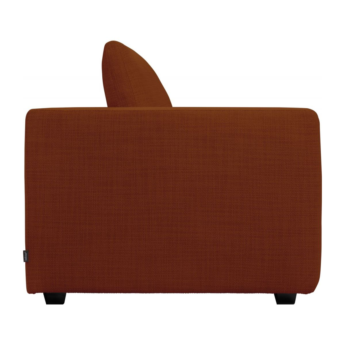 1,5 seater sofa with left armrest in Fasoli fabric, warm red rock n°5