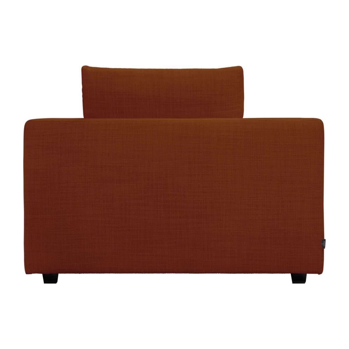 1,5 seater sofa with left armrest in Fasoli fabric, warm red rock n°4