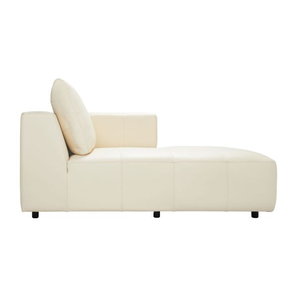 right chaise longue in eton veined leather cream n3 - Chaise Longue Cuir