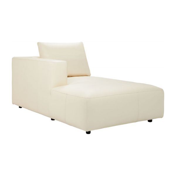 left chaise longue in eton veined leather cream n1 - Chaise Longue Cuir
