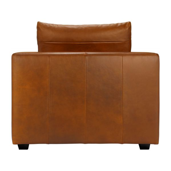 ponta m ridienne gauche 1 place en cuir aniline vintage leather old chestnut habitat. Black Bedroom Furniture Sets. Home Design Ideas