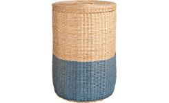 Basket 50cm, natural and blue