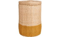 Basket 44cm, natural and yellow