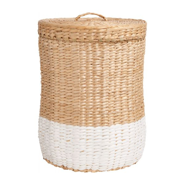 milk basket 28cm natural and white habitat. Black Bedroom Furniture Sets. Home Design Ideas