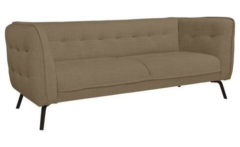 3 seater sofa in Fasoli fabric, jatoba brown and dark legs