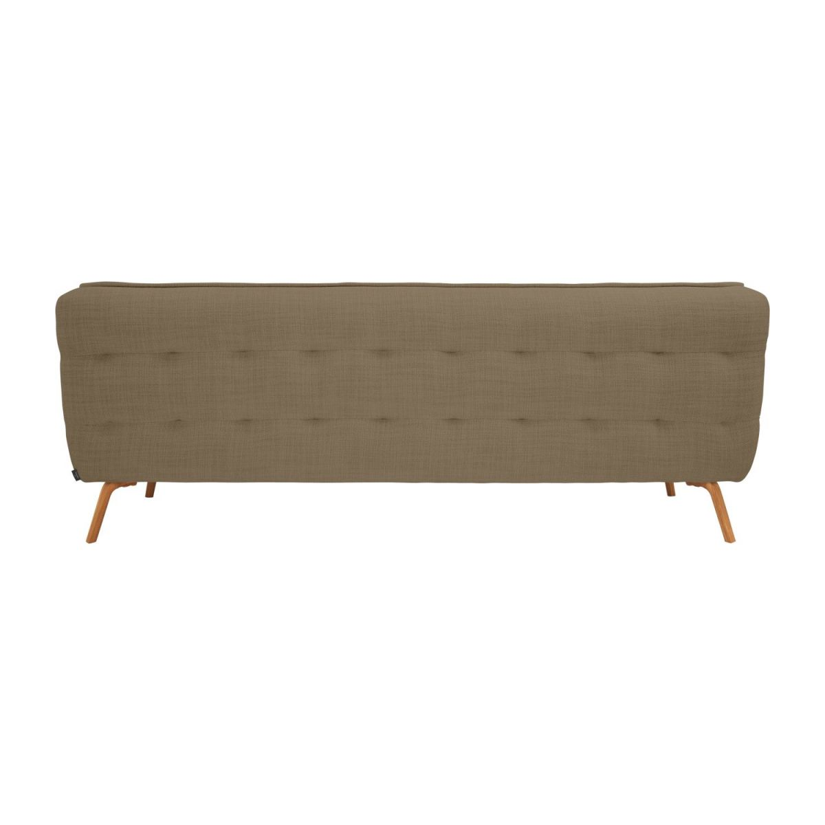 3 seater sofa in Fasoli fabric, jatoba brown and oak legs n°3