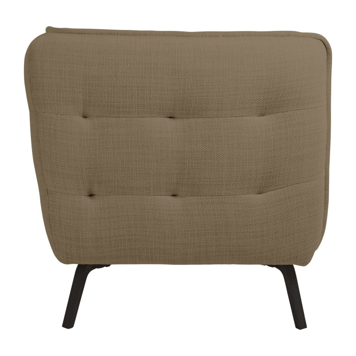 2 seater sofa in Fasoli fabric, jatoba brown and dark legs n°4