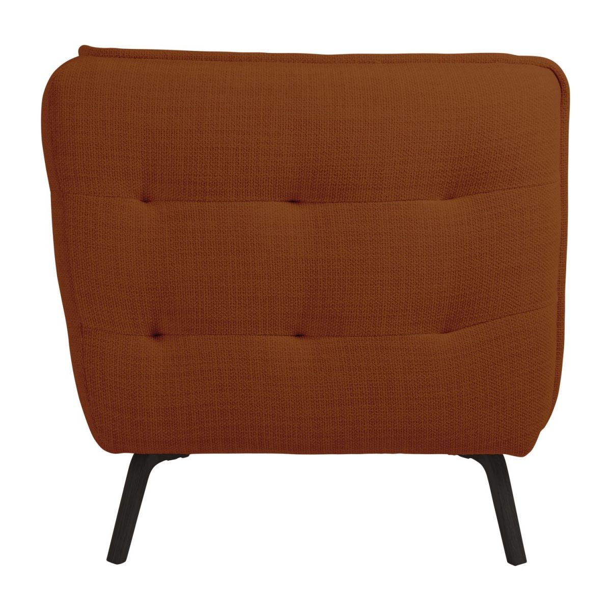 2 seater sofa in Fasoli fabric, warm red rock and dark legs n°3
