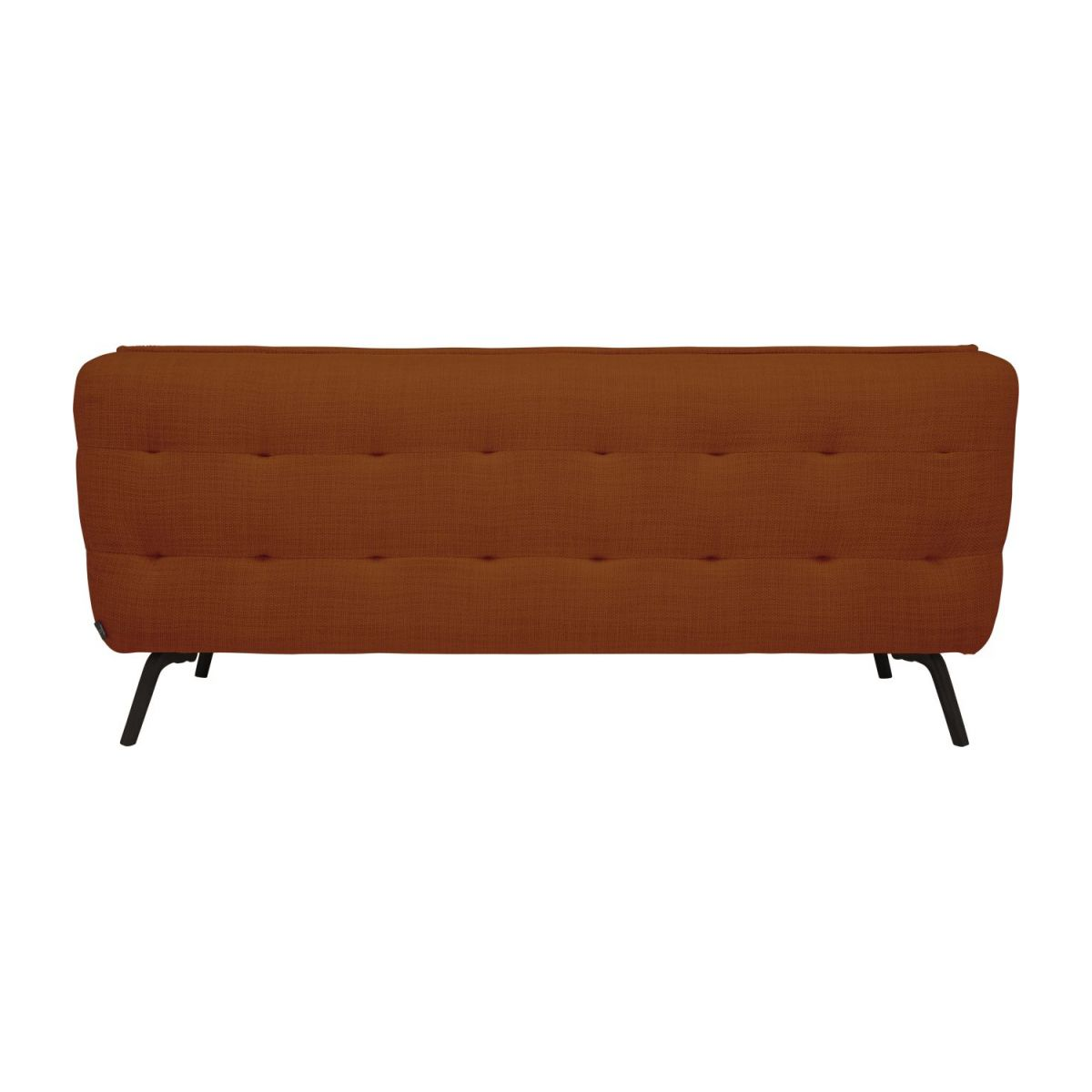 2 seater sofa in Fasoli fabric, warm red rock and dark legs n°2