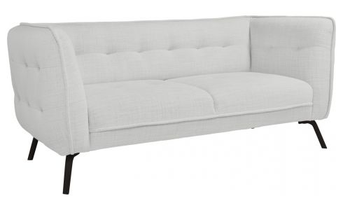 2 seater sofa in Fasoli fabric, grey sky and dark legs
