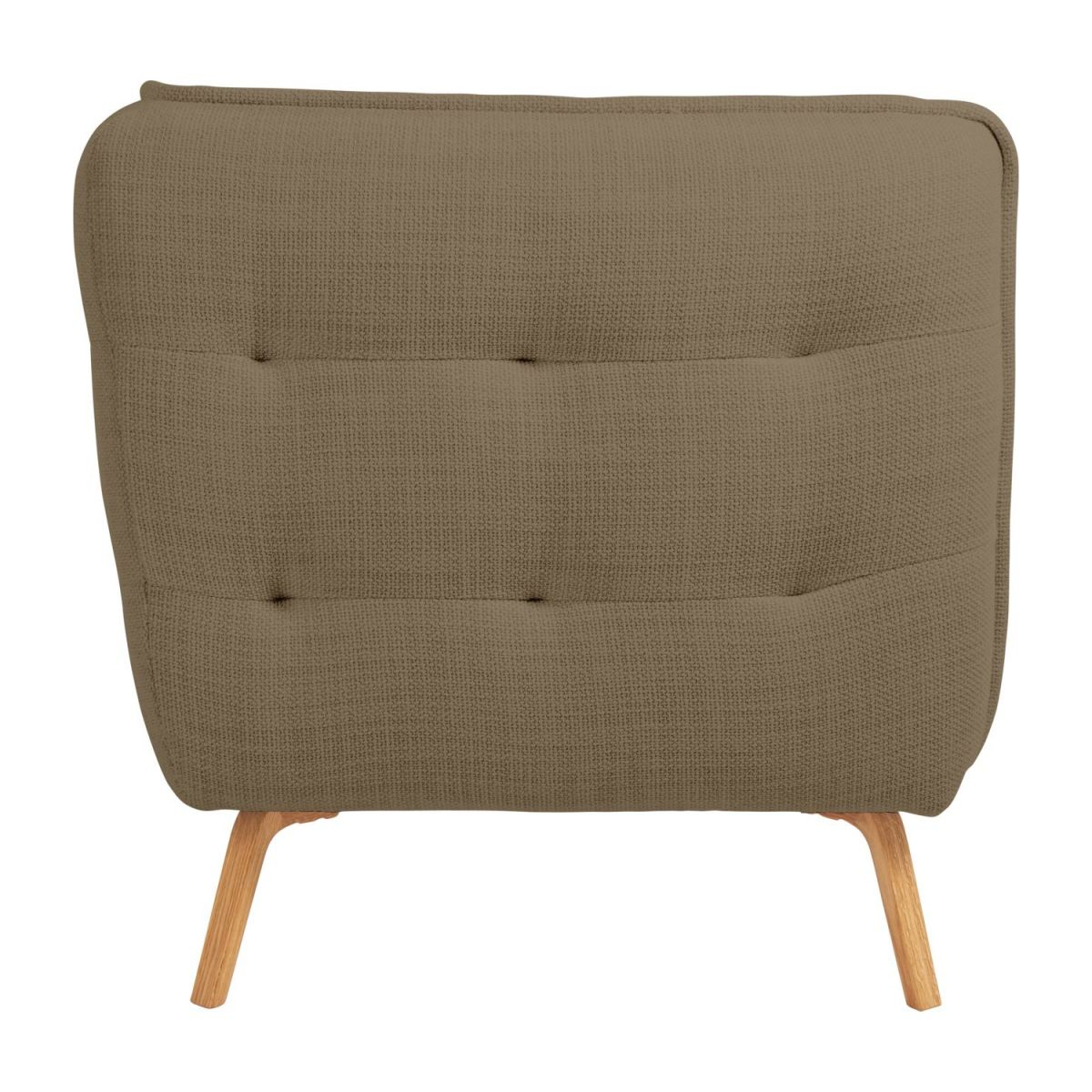 2 seater sofa in Fasoli fabric, jatoba brown and oak legs n°5