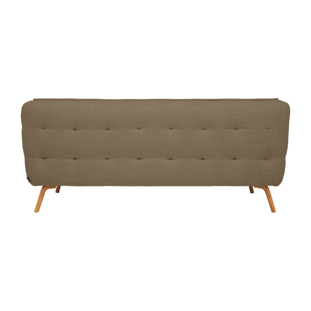 2 seater sofa in Fasoli fabric, jatoba brown and oak legs n°4