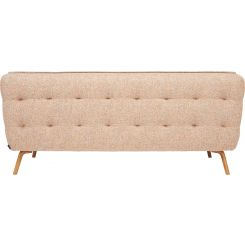 2 seater sofa in Bellagio fabric, passion orange and oak legs