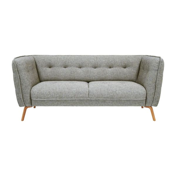 2 seat sofa in fabric dark grey n2