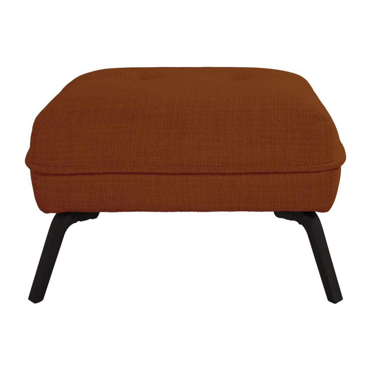 Footstool in Fasoli fabric, warm red rock and dark legs n°2