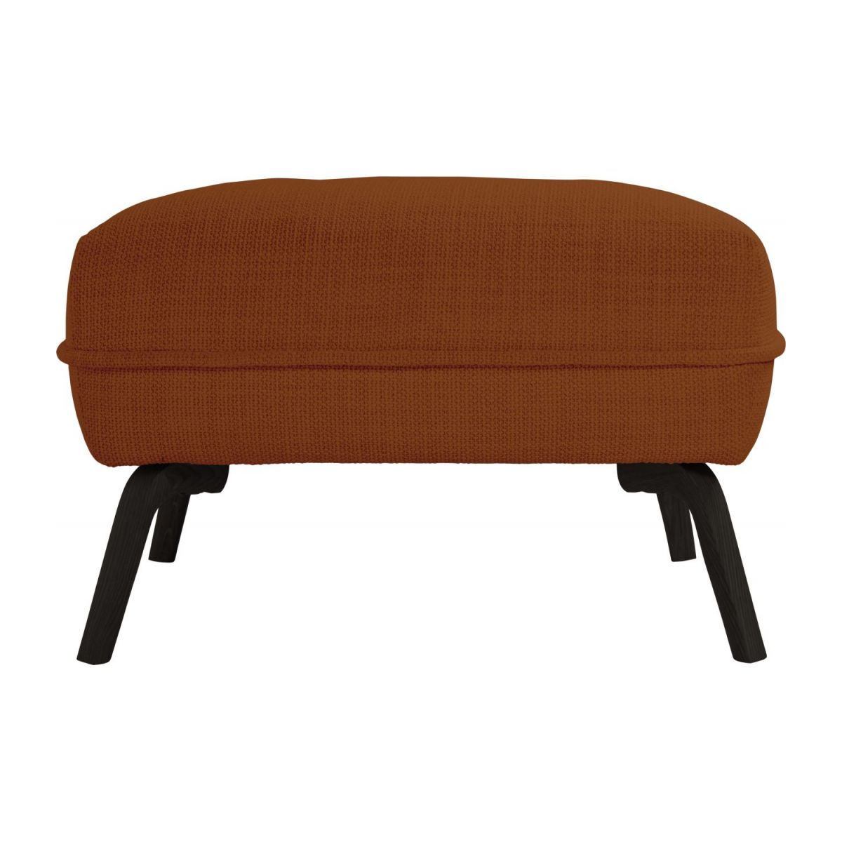Footstool in Fasoli fabric, warm red rock and dark legs n°3