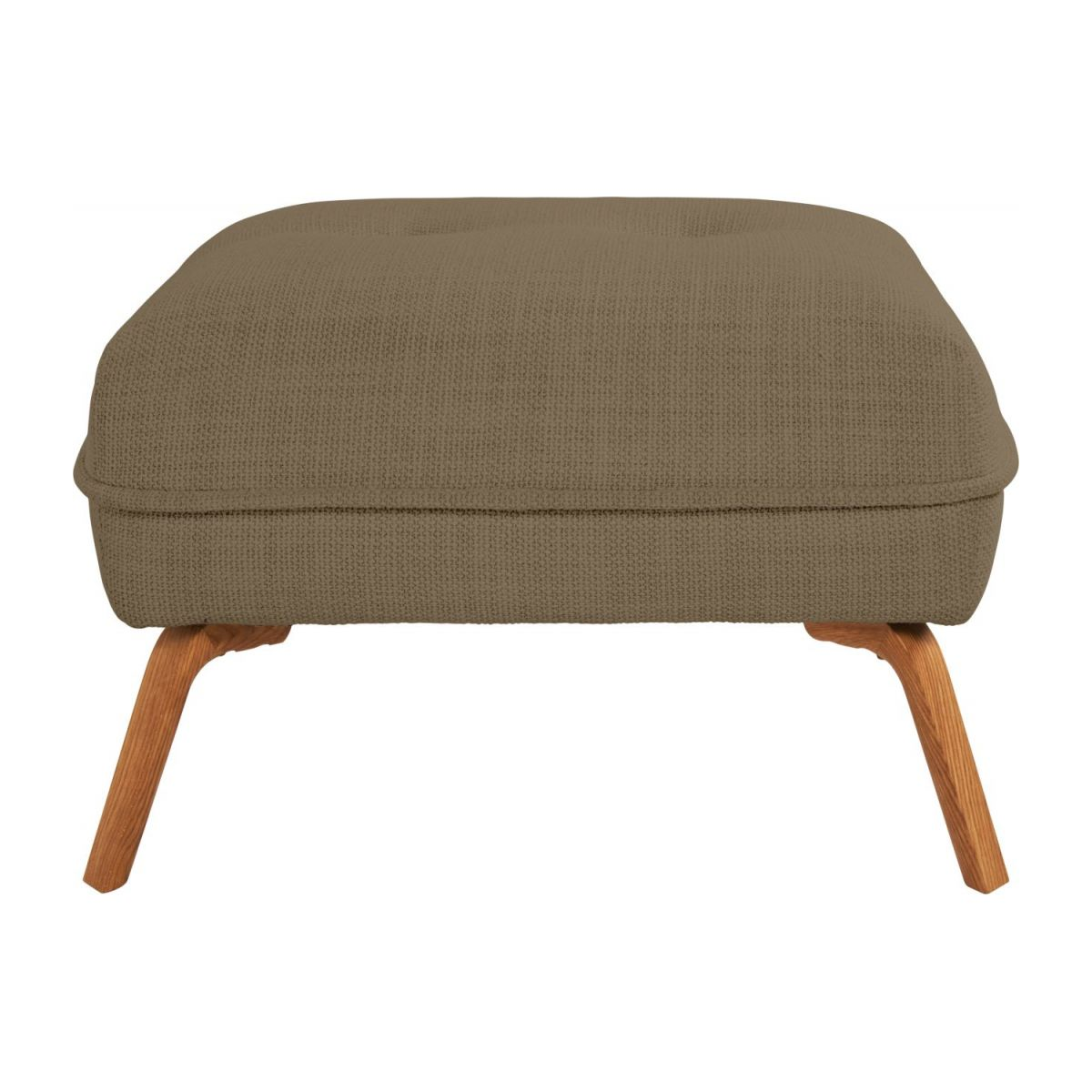 Footstool in Fasoli fabric, jatoba brown and oak legs n°2