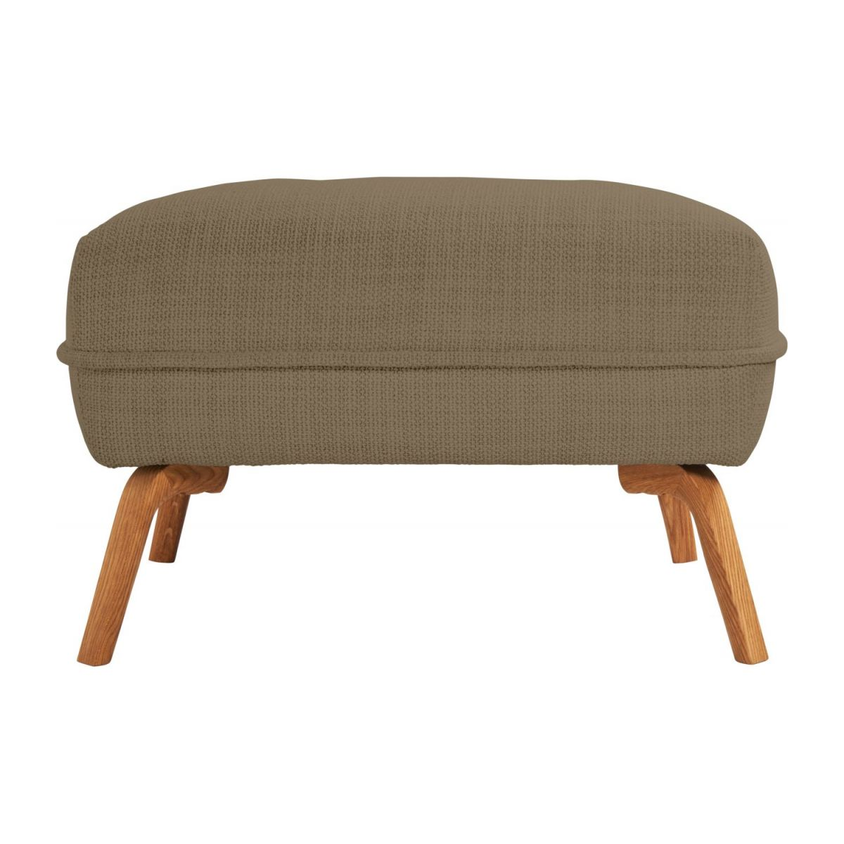 Footstool in Fasoli fabric, jatoba brown and oak legs n°3