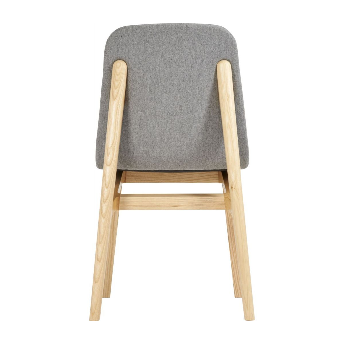 Chair made of ash tree and felt, grey n°5