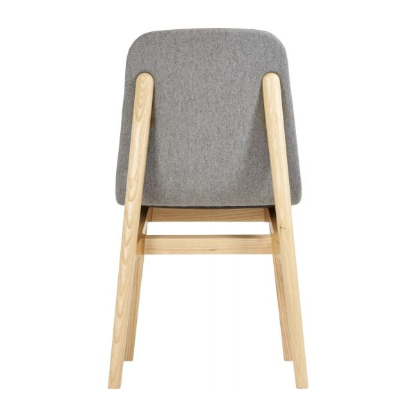Chair made of ash tree and felt, grey n°3
